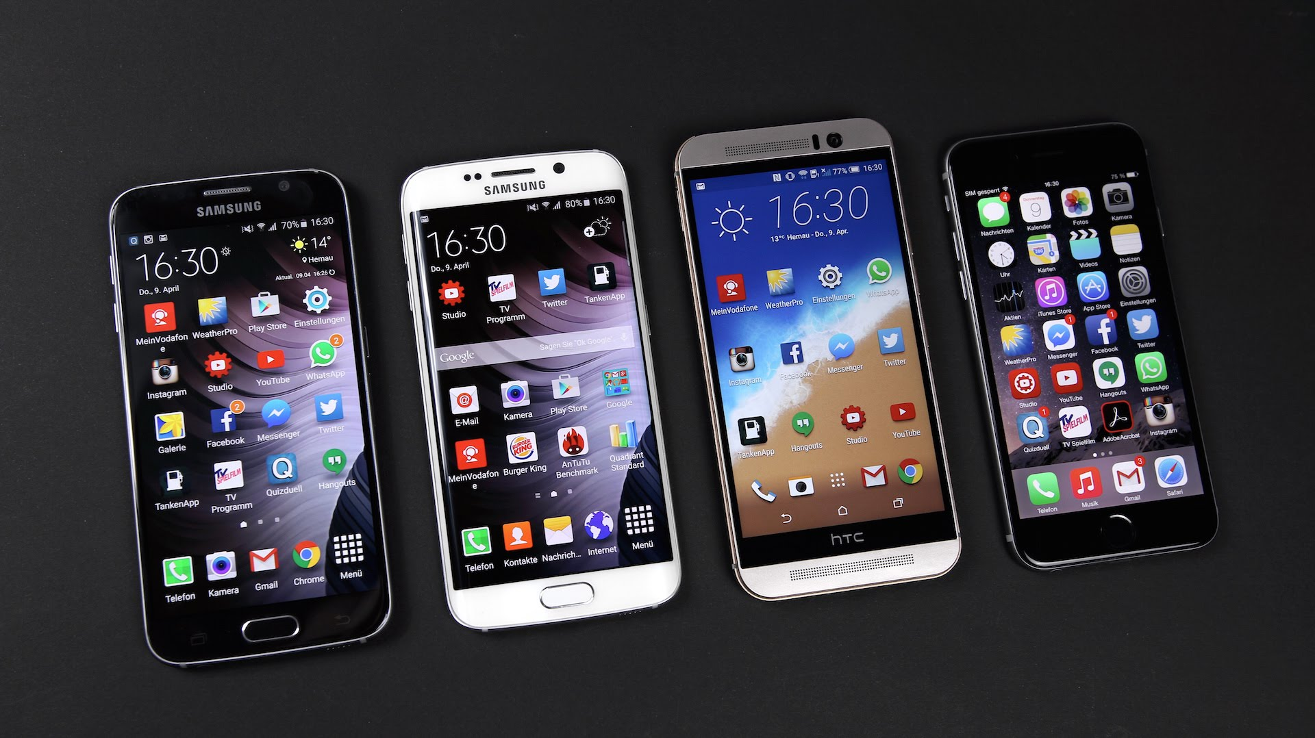 Apple iPhone 6S Vs HTC One M9 Vs Samsung Galaxy S6: Which ...