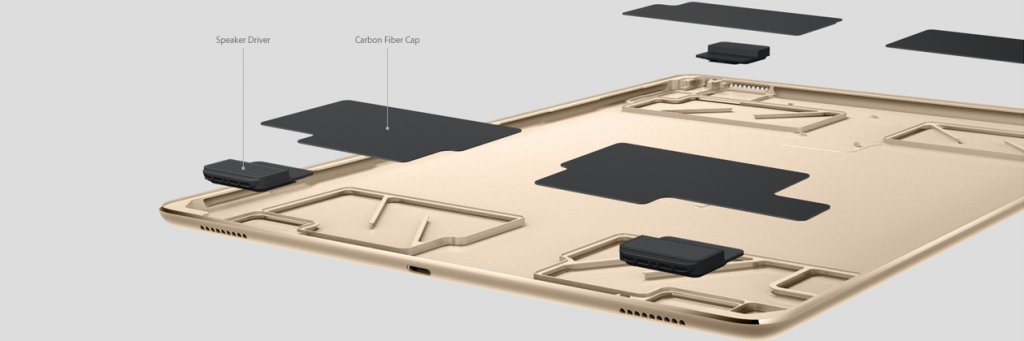 iPad Pro 4-way speaker system