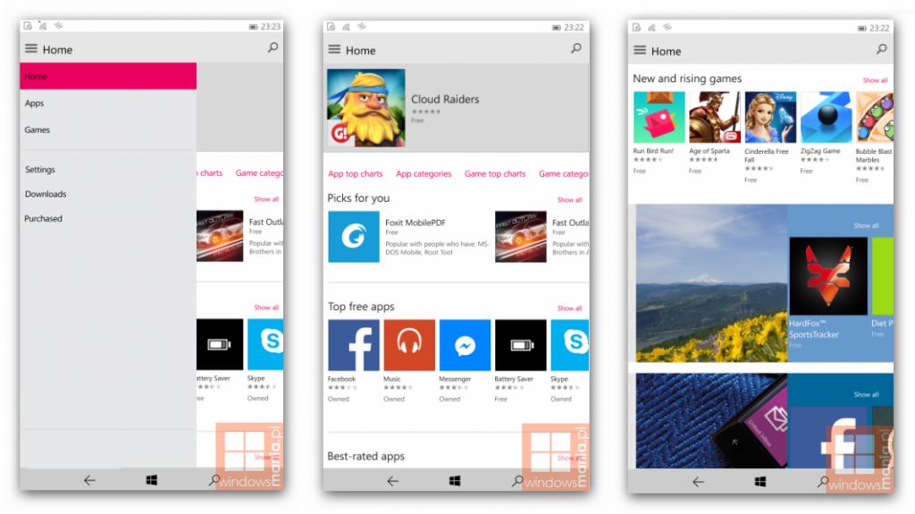 Windows 10 Mobile Store
