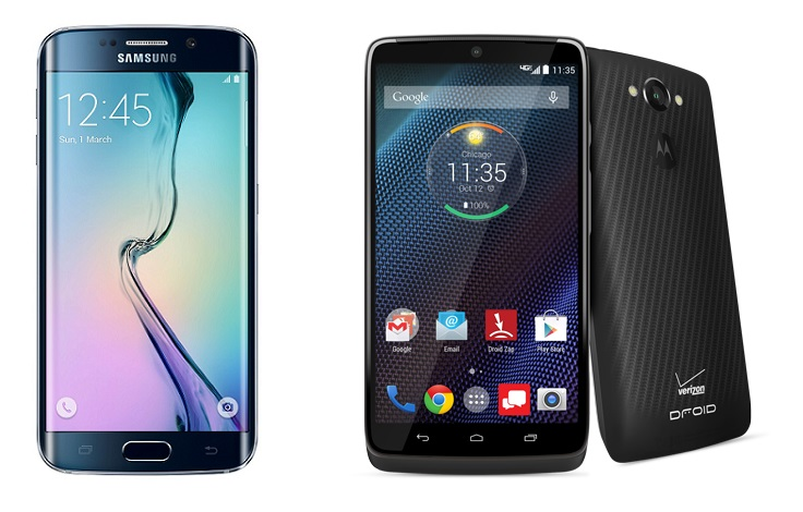 Left: Samsung Galaxy S6 Edge Right: Motorola Droid Turbo