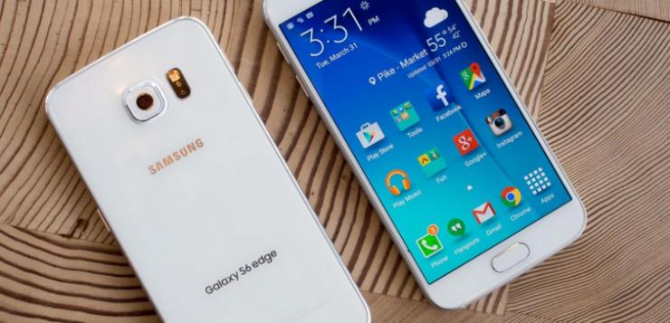Samsung Galaxy S6 Edge.