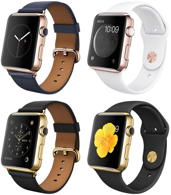 Apple Watch 18-karat yellow/rose gold case, ceramic back edition.