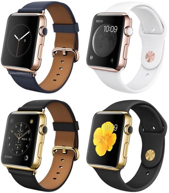 Apple Watch 18-karat yellow/rose gold case, ceramic back edition.