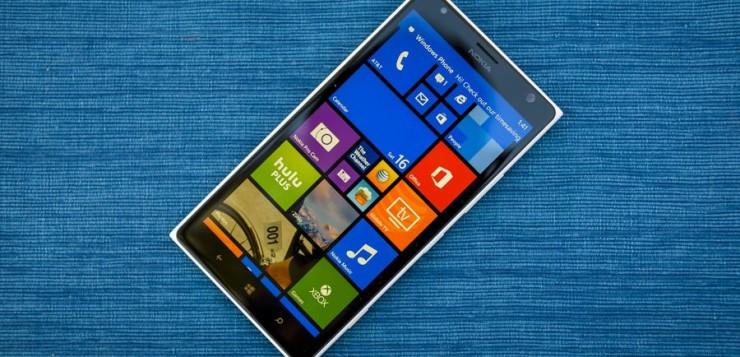 Windows Phone smartphone.