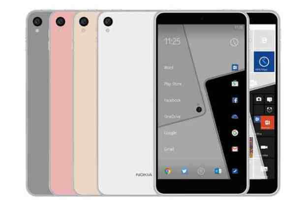 Nokia C1 Android smartphoen render.