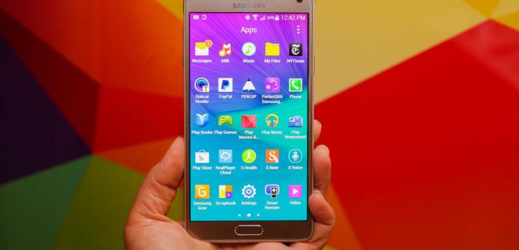 Samsung Galaxy Note 4 gold edition.