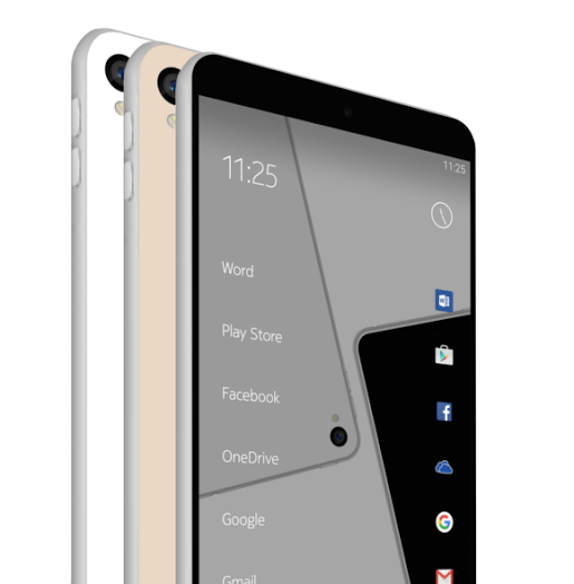 Nokia C1 Android/Windows 10 Mobile smartphone render.