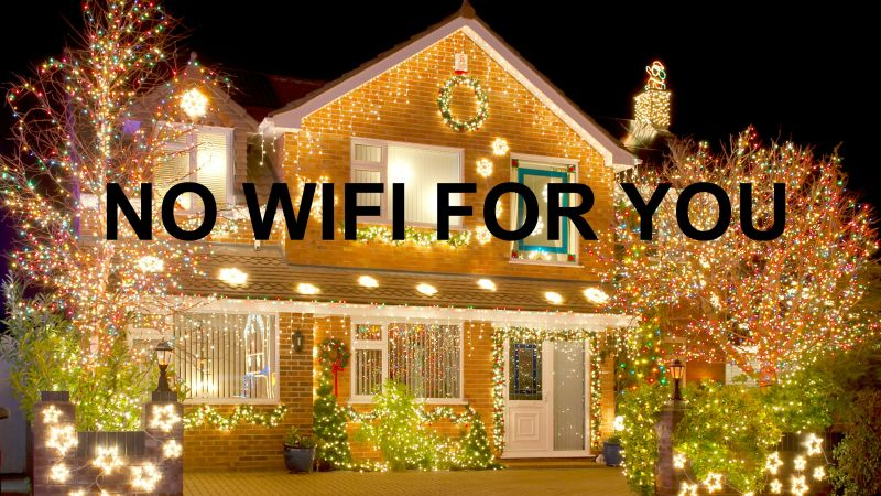 Ofcom says WiFi speed could be slowed down by Christmas lights