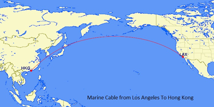 Marine Cable from Los Angeles To Hong Kong