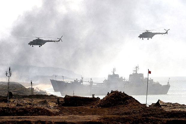 Russians as a Part of Giant War Drill in Russia