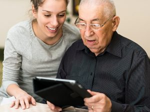 Can Agitation In Dementia Patients Managed With A Tablet Device?