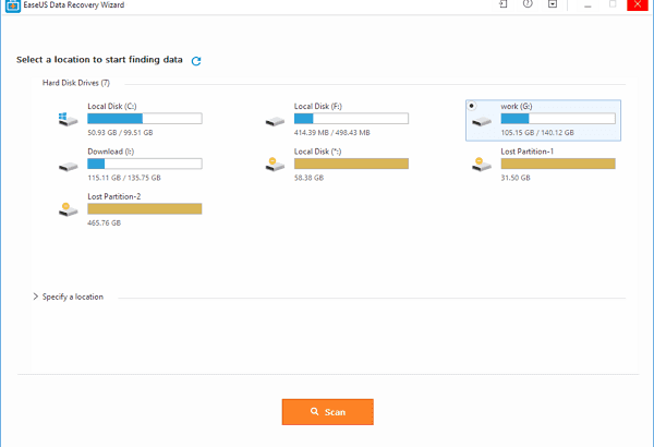 Use The Easeus Data Recovery Software To Find The Lost Files